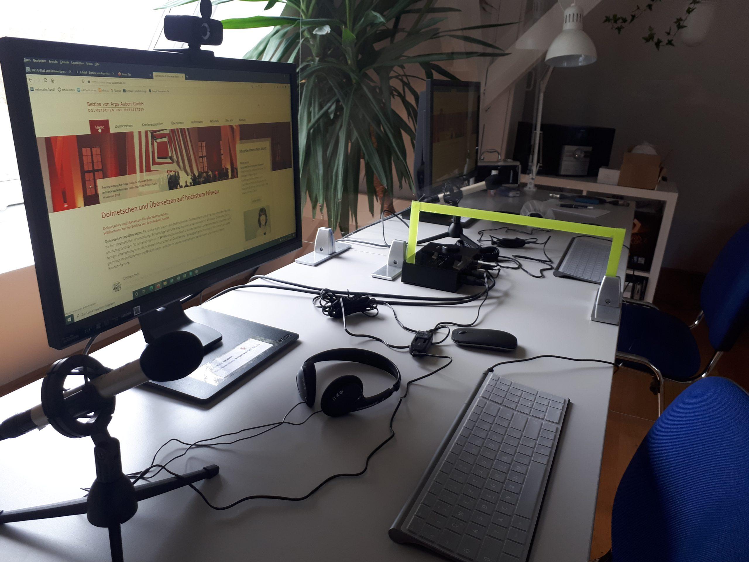 Eigener Büro-Hub für Remote Simultaneous Interpreting (Ferndolmetschen)