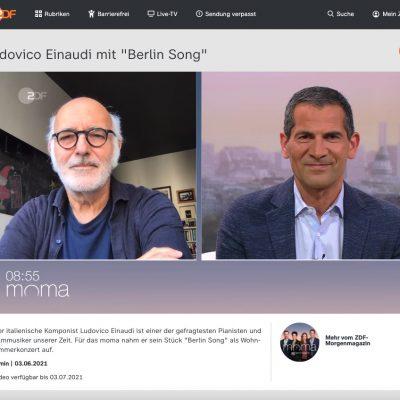 Ludovico Einaudi live im ZDF-Morgenmagazin – eine Erfahrung der ganz besonderen Art